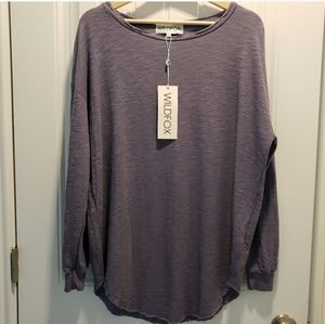 NWT Wildfox Slouchy Long Sleeve Thermal Top
